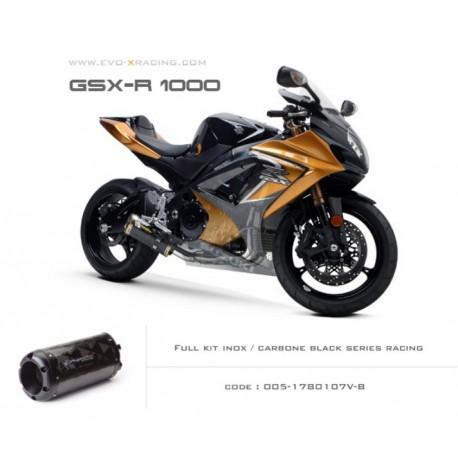 Ligne complète échappement M2 en carbone option black séries Suzuki GSXR1000