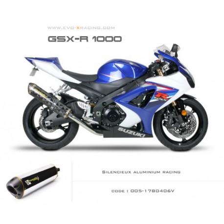 Echappement M2 en aluminium Suzuki GSXR1000