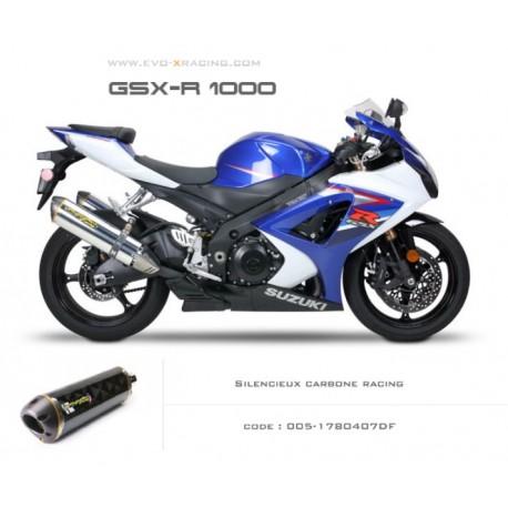 Echappement M2 en carbone Suzuki GSXR1000