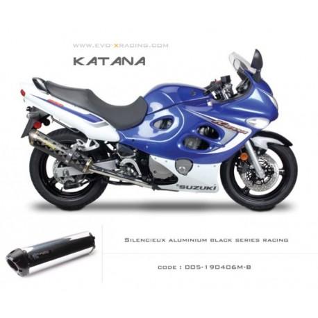 Echappement M2 en aluminium option black séries Suzuki Katana600 750