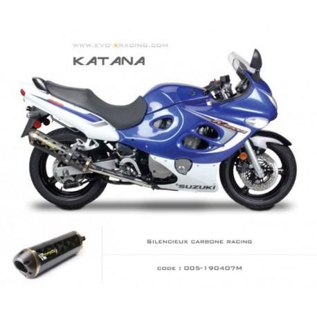 Echappement M2 en carbone Suzuki Katana600 750