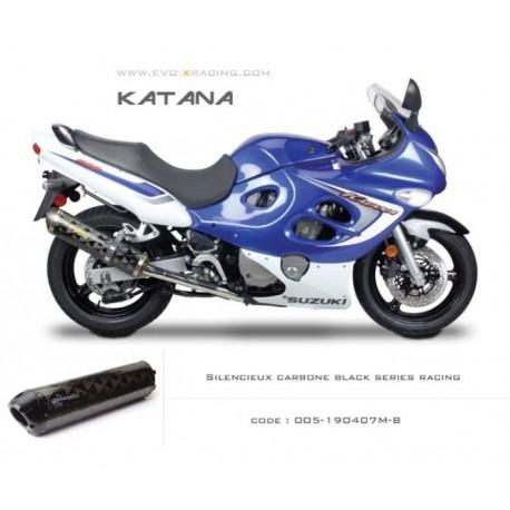 Echappement M2 en carbone option black séries Suzuki Katana600 750