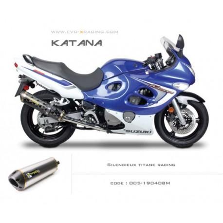 Echappement c2 en titane Suzuki Katana600 750