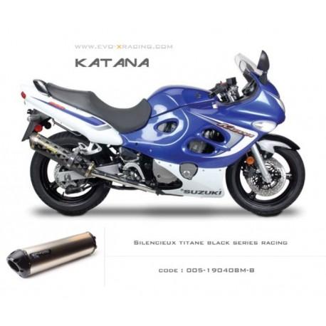 Echappement M2 en titane option black séries Suzuki Katana600 750