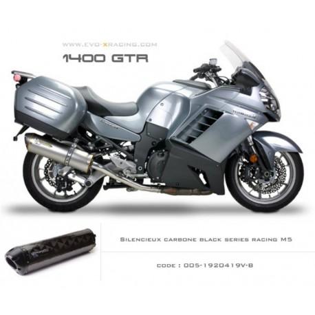 Echappement M5 en carbone option black séries Kawasaki 1400gtr
