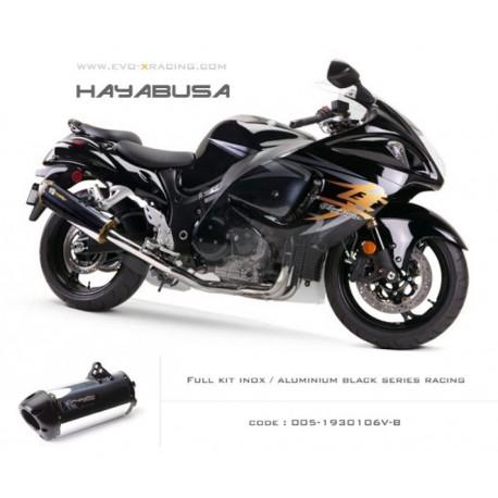 Ligne complète échappement M2 en aluminium option black séries Suzuki Hayabusa