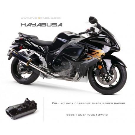 Ligne complète échappement M2 en carbone option black séries Suzuki Hayabusa