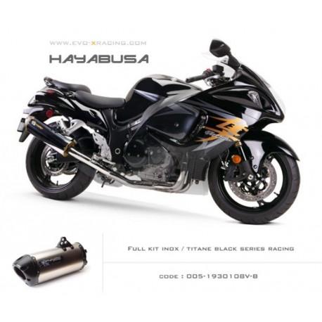 Ligne complète échappement M2 en titane option black séries Suzuki Hayabusa