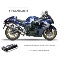 Double échappement M2 en aluminium option black séries Suzuki Hayabusa