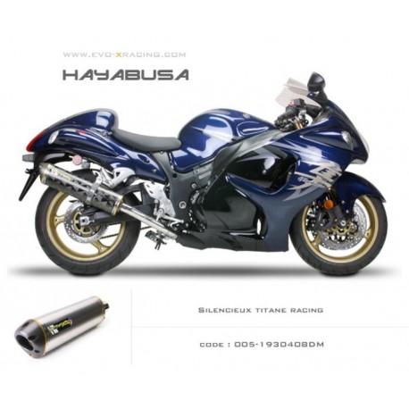 Double échappement M2 en titane Suzuki Hayabusa
