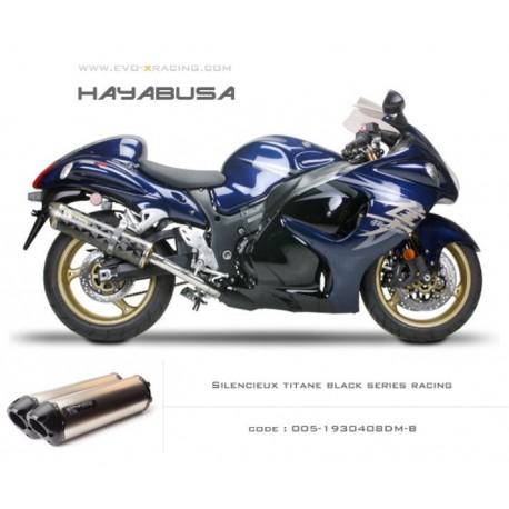 Double échappement M2 en titane option black séries Suzuki Hayabusa