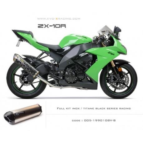 Ligne complète échappement M2 en titane option black séries Kawasaki ZX 10 R