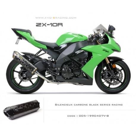 Ligne complète échappement M2 en carbone option black séries Kawasaki ZX 10 R