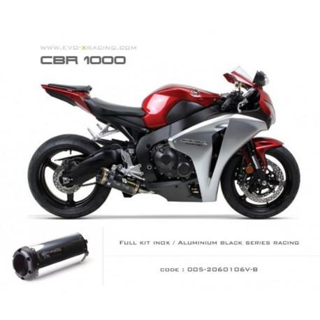 Ligne complète échappement M2 en aluminium option black séries Honda CBR1000