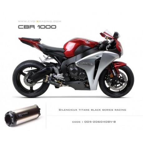 Ligne complète échappement M2 en titane option black séries Honda CBR1000