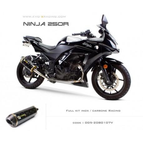 Ligne complète échappement M2 en carbone Kawasaki Ninja250300