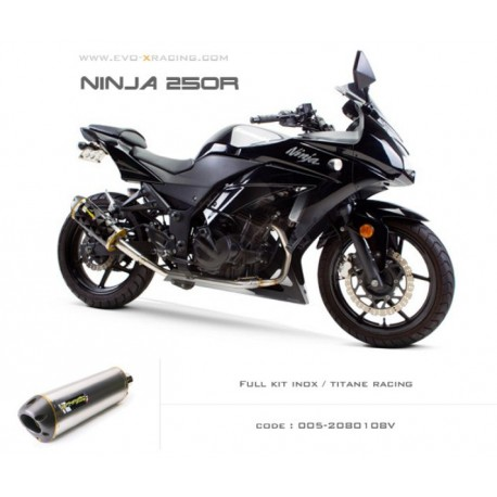 Ligne complète échappement M2 en titane Kawasaki Ninja250300