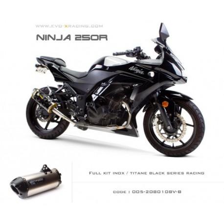 Ligne complète échappement M2 en titane option black séries Kawasaki Ninja250300