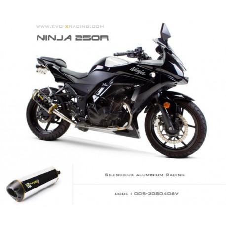 Echappement M2 en aluminium Kawasaki Ninja250300