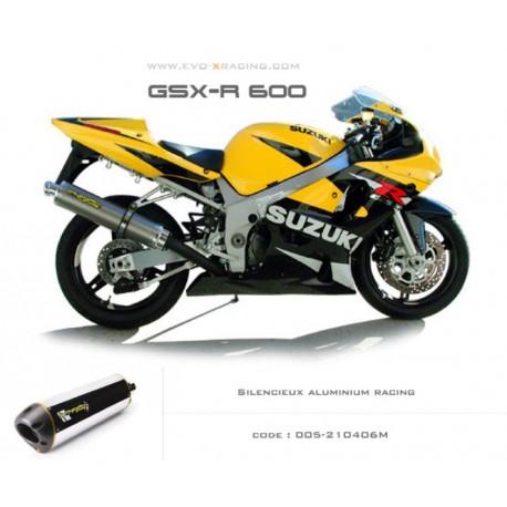 Ligne complète échappement M2 en aluminium Suzuki GSXR600