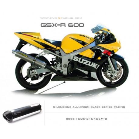 Ligne complète échappement M2 en aluminium option black séries Suzuki GSXR600