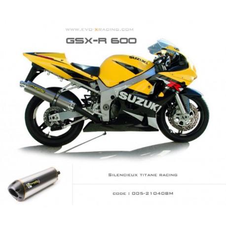 Echappement M2 en titane Suzuki GSXR600