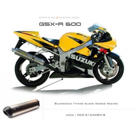Echappement M2 en titane option black séries Suzuki GSXR600