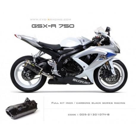 Ligne complète échappement M2 en carbone option black séries Suzuki GSXR600 750