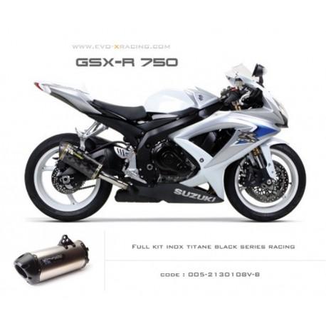 Ligne complète échappement M2 en titane option black séries Suzuki GSXR600 750