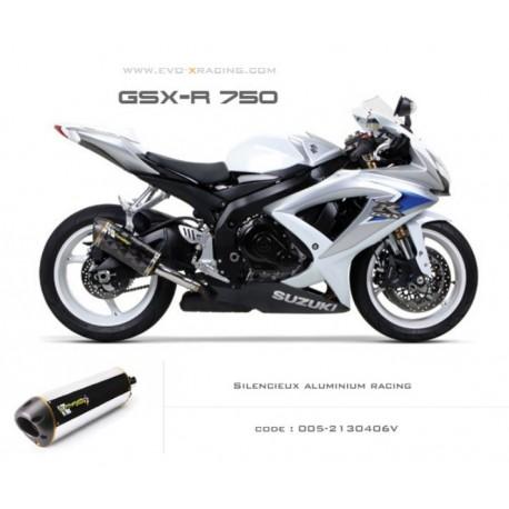 Echappement M2 en aluminium Suzuki GSXR600 750