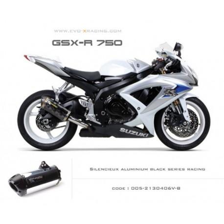 Echappement M2 en aluminium option black séries Suzuki GSXR600 750