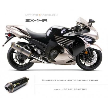 Echappement M2 en carbone Kawasaki ZZR1400