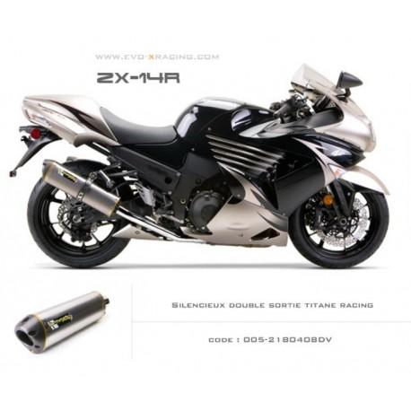 Double échappement M2 en titane Kawasaki ZZR1400