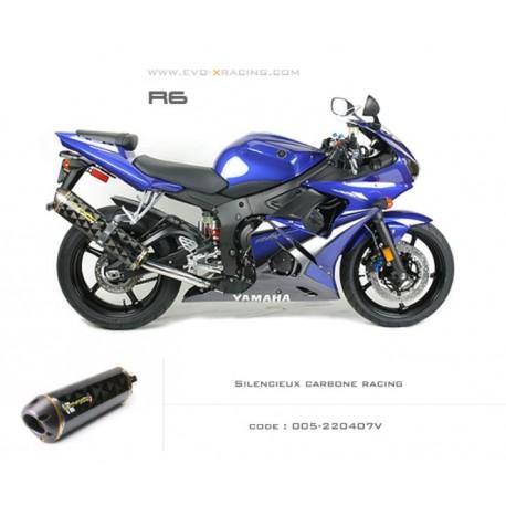 Echappement M2 en carbone Yamaha R6