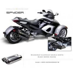 Double échappement M2 en aluminium option black séries Can Am spyder