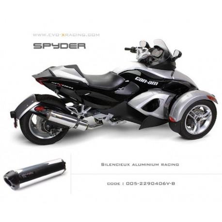 Echappement M2 en aluminium option black séries Can Am spyder