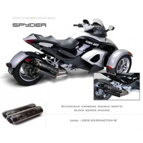 Double échappement M2 en carbone option black séries Can Am spyder
