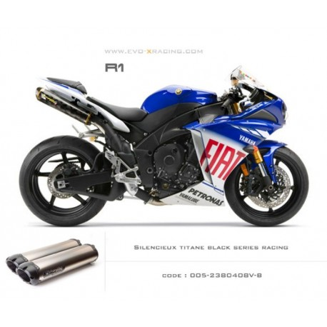 Double échappement M2 en titane option black séries Yamaha R1