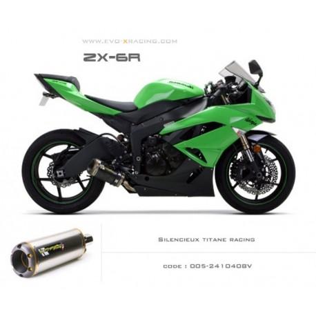 Echappement M2 en titane Kawasaki ZX6R