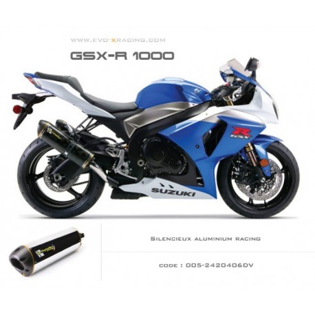 Double échappement M2 en aluminium Suzuki GSXR1000