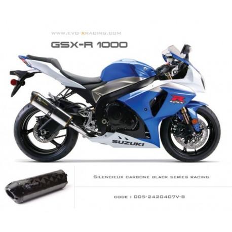 Echappement M2 en carbone option black séries Suzuki GSXR1000
