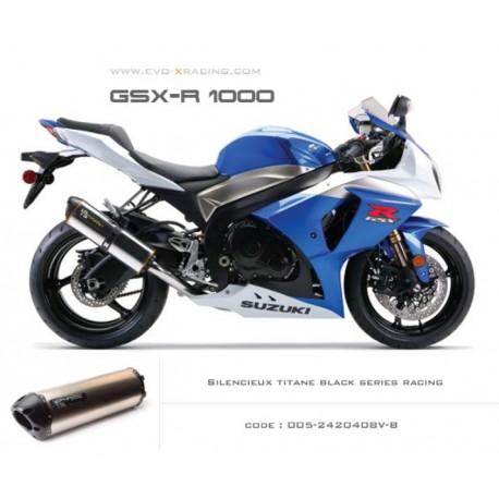 Echappement M2 en titane option black séries Suzuki GSXR1000