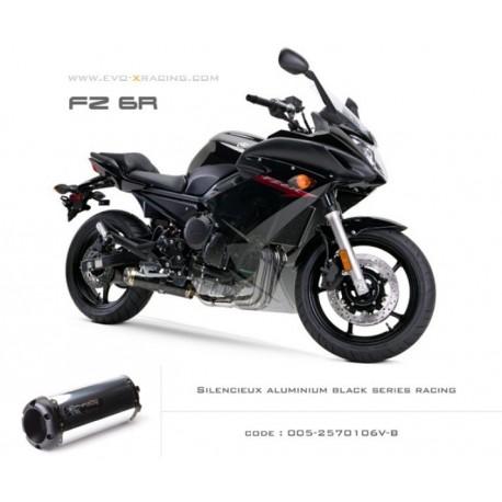 Ligne complète échappement M2 en aluminium option black séries Yamaha fz6