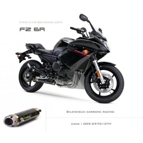 Ligne complète échappement M2 en carbone Yamaha fz6