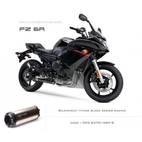 Ligne complète échappement M2 en titane option black séries Yamaha fz6