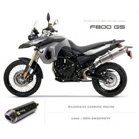 Echappement M2 en carbone BMW F650GS F700GS F800GS