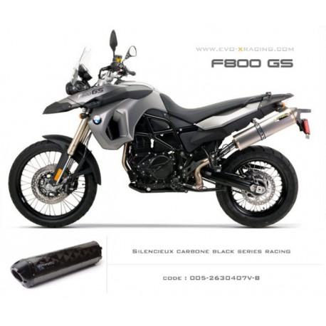 Echappement M2 en carbone option black séries BMW F650GS F700GS F800GS