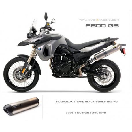 Echappement M2 en titane option black séries BMW F650GS F700GS F800GS