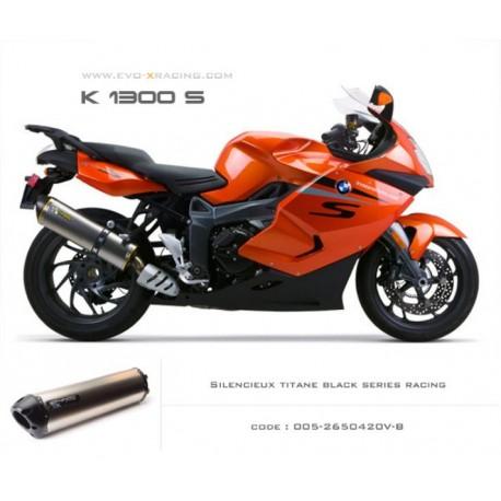 Echappement M5 en titane option black séries BMW K1200 K1300s