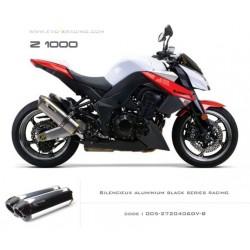 Double échappement M2 en aluminium option black séries Kawasaki Z1000